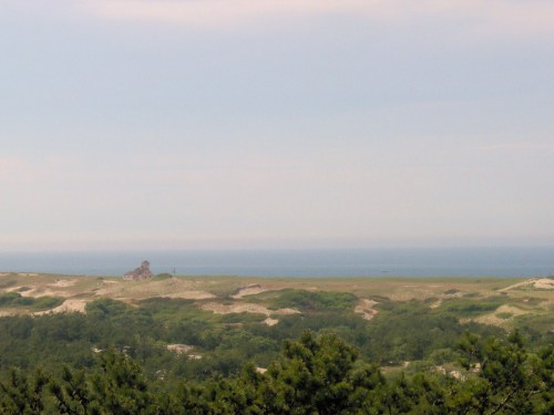 The view from the visitors' center at the Cape Cod National Seashore makes up for it.