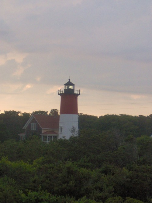 The much photographed Nauset lighthouse.